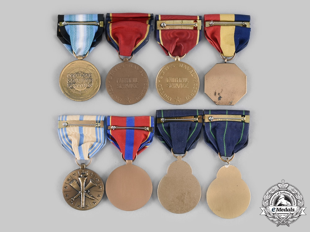 United States. A Lot of Eight Navy Medals