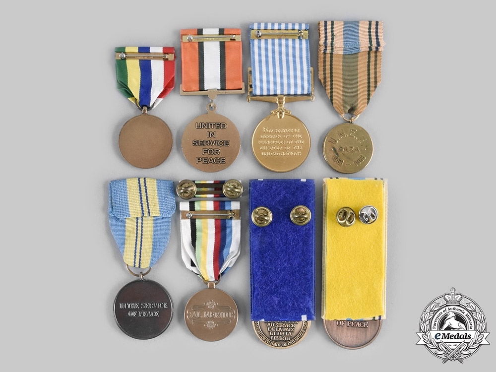 International, United Nations. A Lot of Eight Service Medals