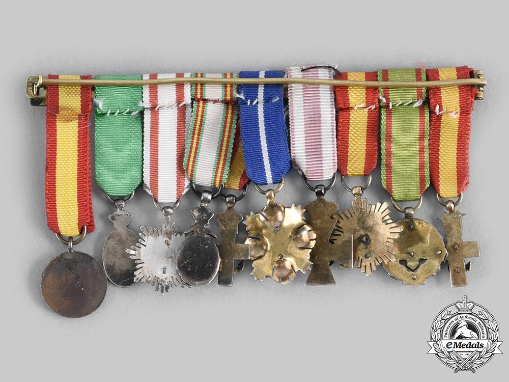 Spain, Fascist State. A Fine Group of Ten Miniatures c.1950
