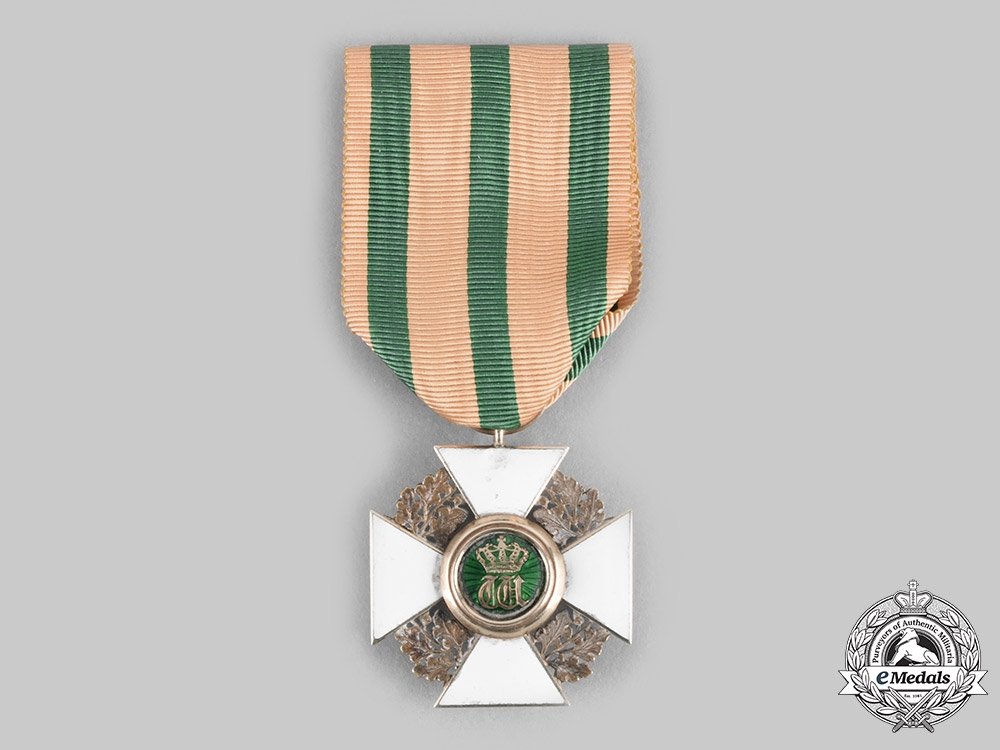 Luxembourg, Kingdom. An Order of the Oak Crown, Officer's Cross in Gold by Lemaitre, c. 1890