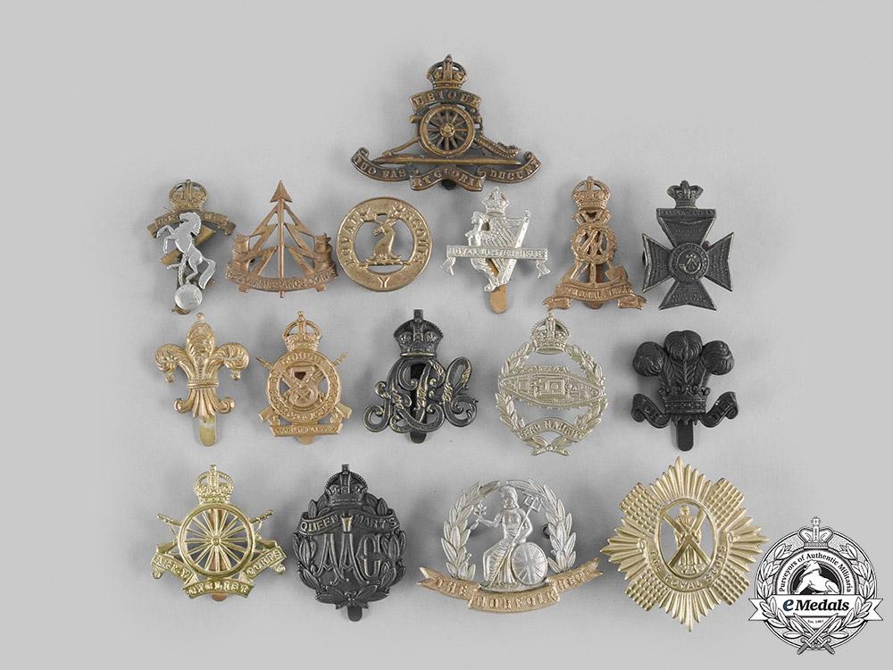 United Kingdom. A Lot of Sixteen Cap Badges