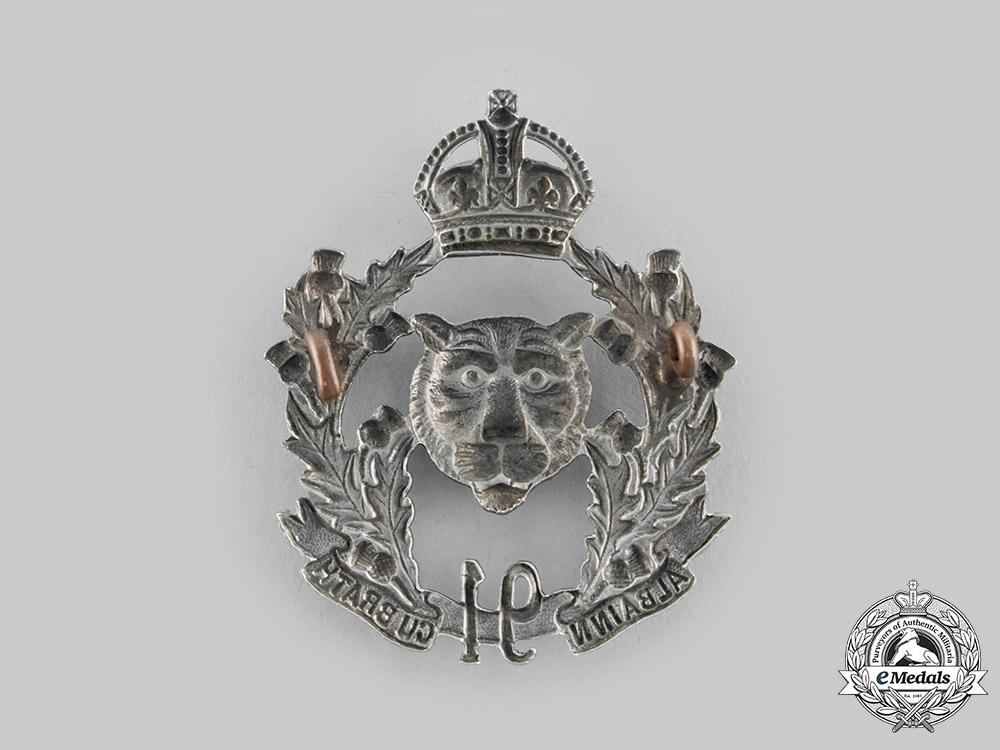 Canada, Dominion. A Pre-First War 91st Regiment Canadian Highlanders Cap Badge