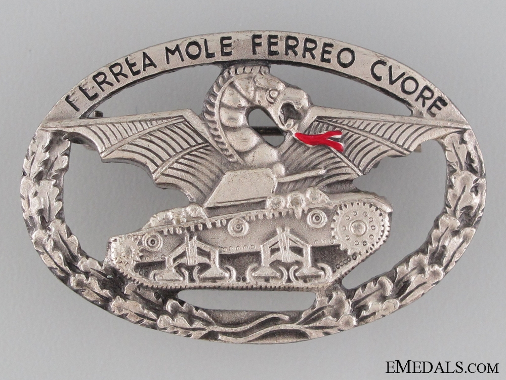 Italian WWII Tank Crew's Badge