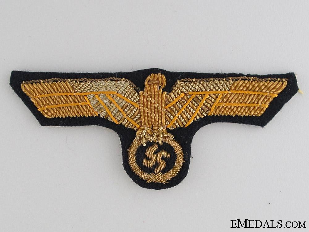 Kriegsmarine Officer's Tunic Eagle in Bullion