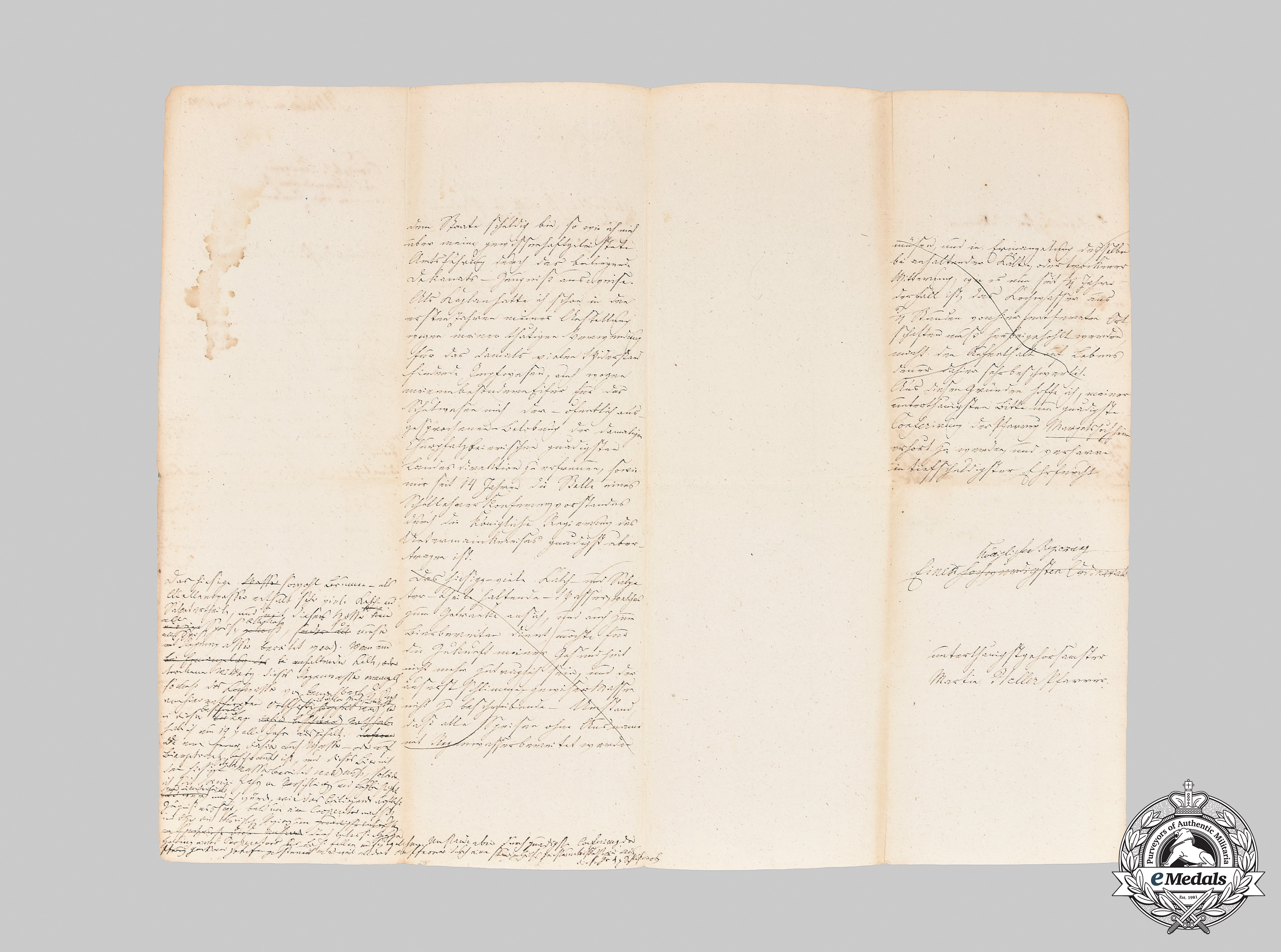 Bavaria, Kingdom. Two Letters from the Royal Bavarian Regiment, c.1830