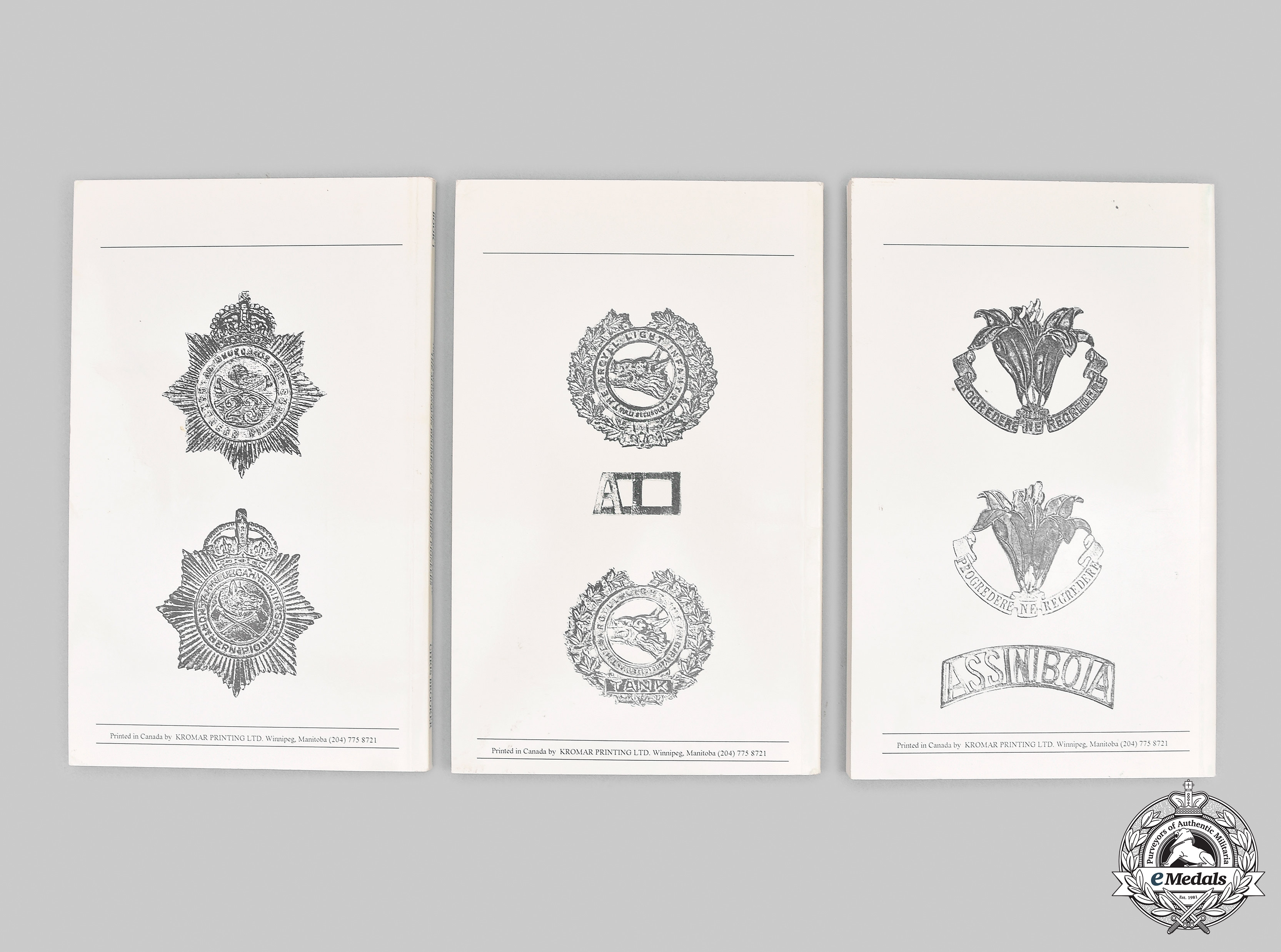 Canada. The Standard Catalogue of Canadian Army Badges 1855 to Date, Books 1, 2 & 3