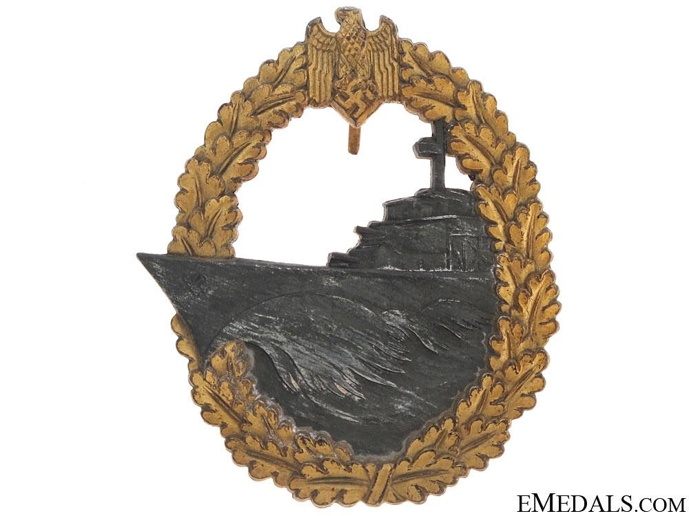 Naval Destroyer War Badge – Marked JFS