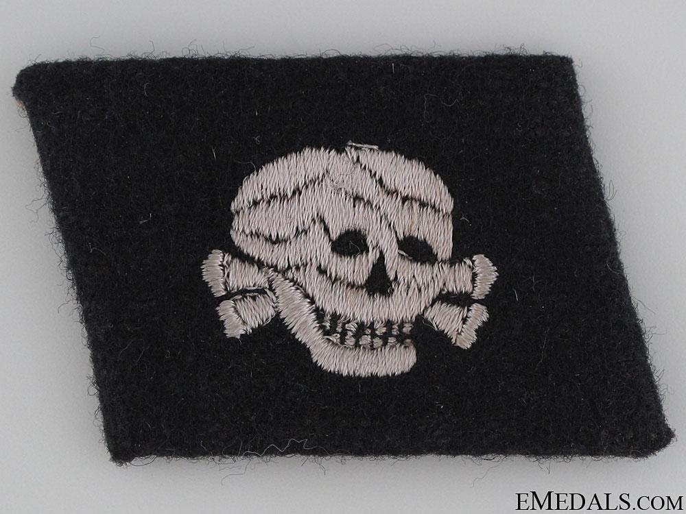 SS EM/NCOs Totenkopf Collar Tab