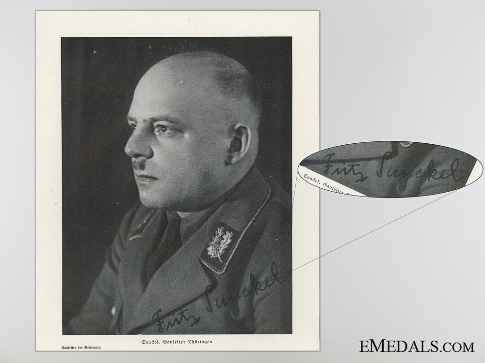 The Signature of German Politician Fritz Sauckel