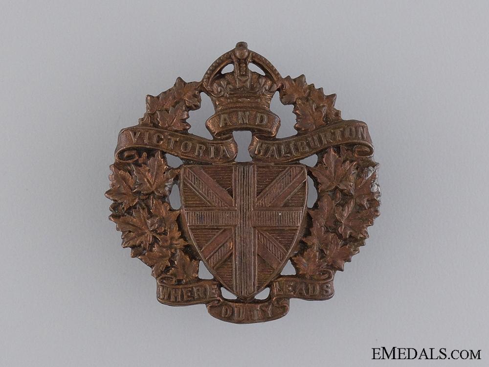 The Victoria & Haliburton Regiment Cap Badge