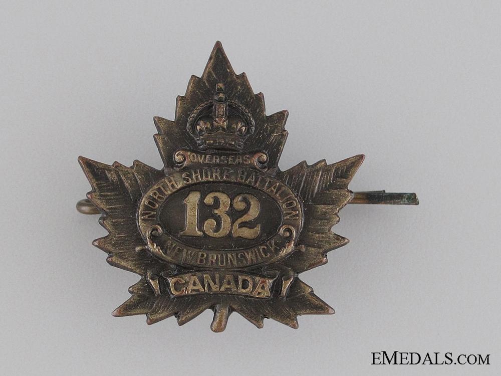 WWI 132nd Infantry Battalion Collar Tab CEF