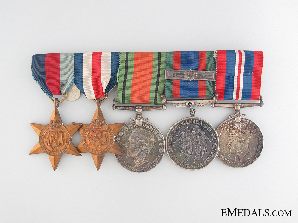 WWII Canadian Veteran's Group of Five