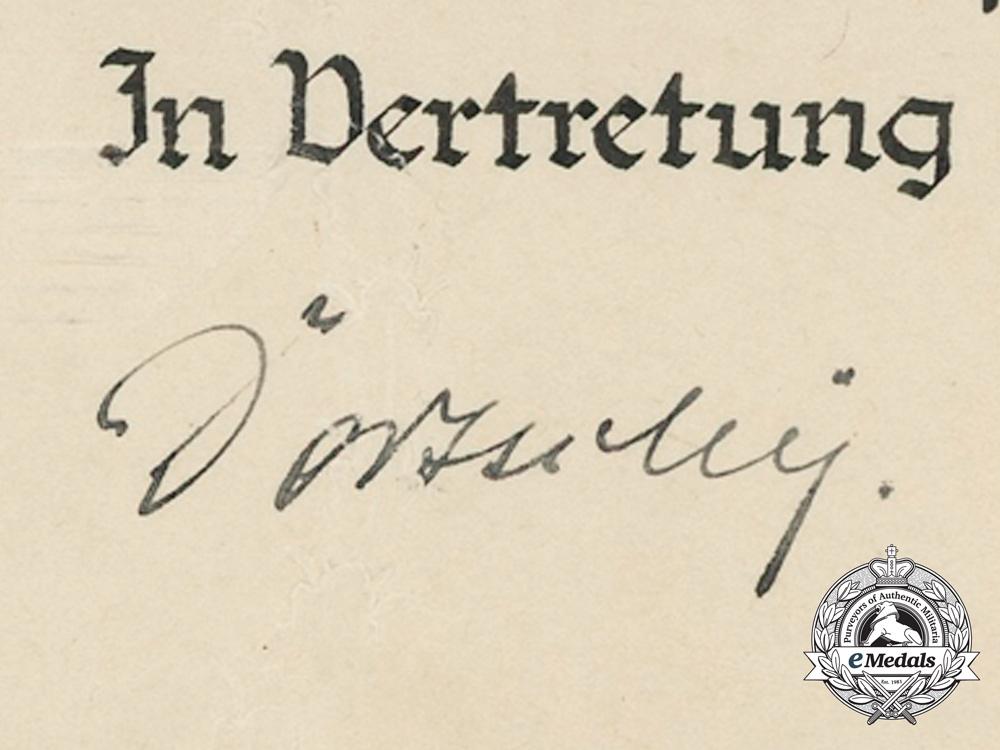A RAD Retirement Insignia Award Document 1941