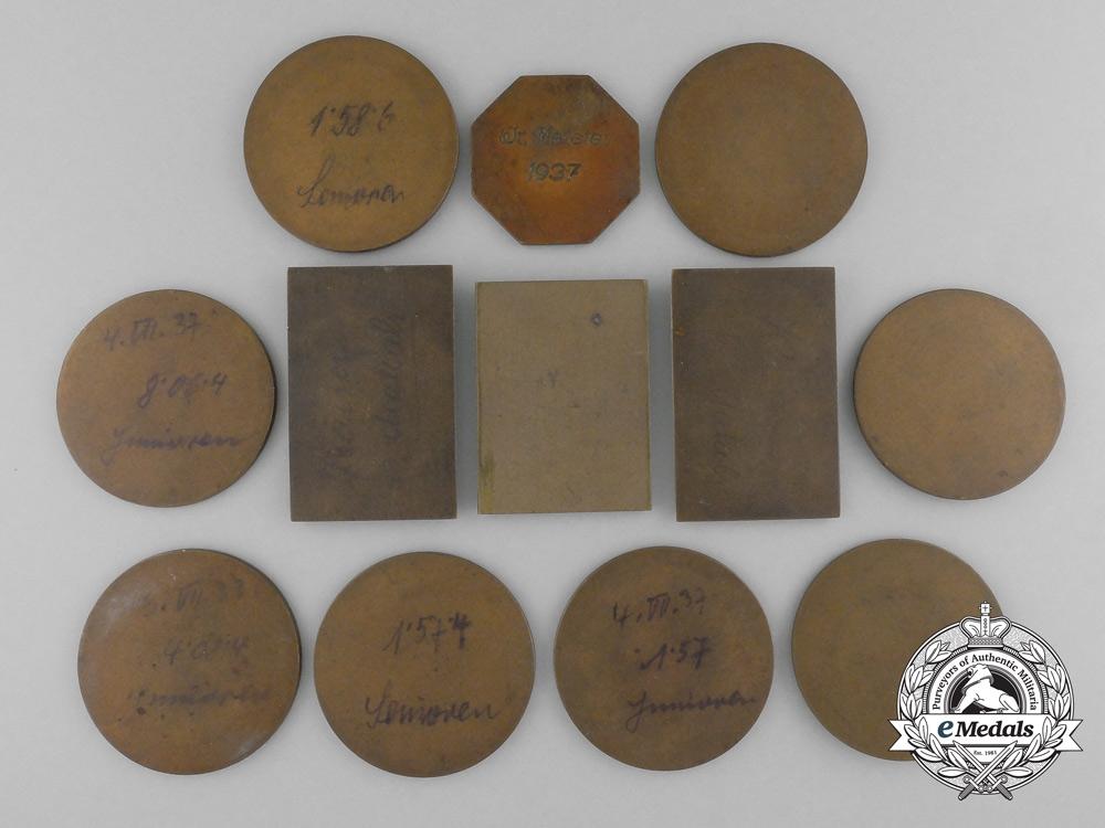 Twelve Pre Second War Jewish Sport Medal & Awards