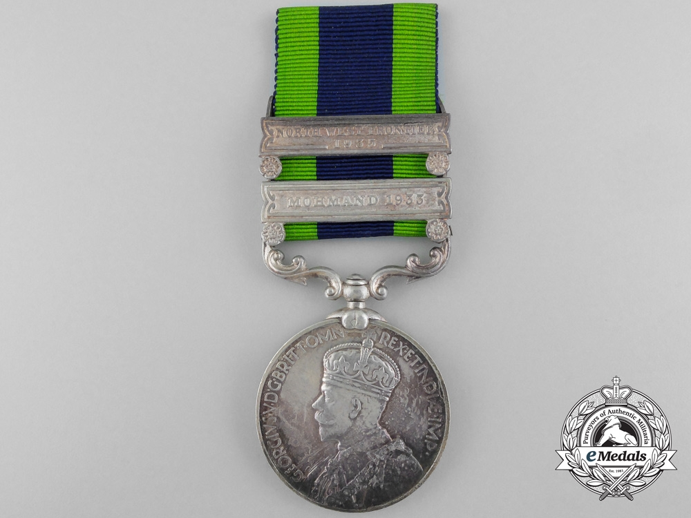 A India General Service Medal to the 12th Frontier Force Regiment
