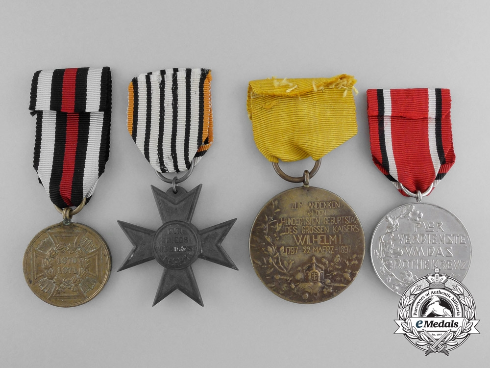 Four Prussian Medals and Awards