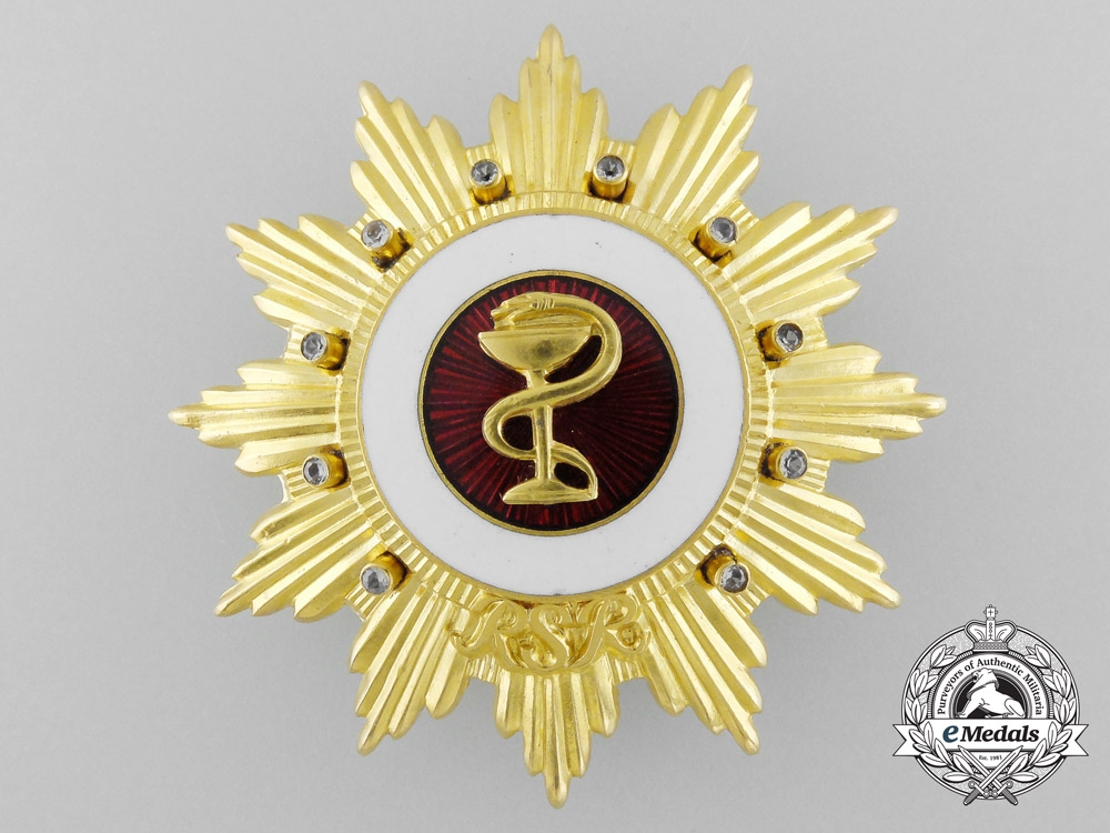 A Romanian Socialist Republic Order of Medical Merit; 1st Class Star