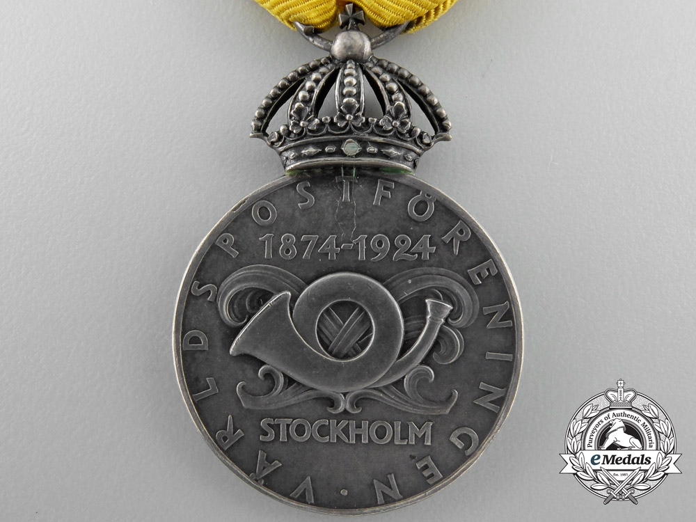 A 1874-1924 Swedish Universal Postal Union 50th Anniversary Medal