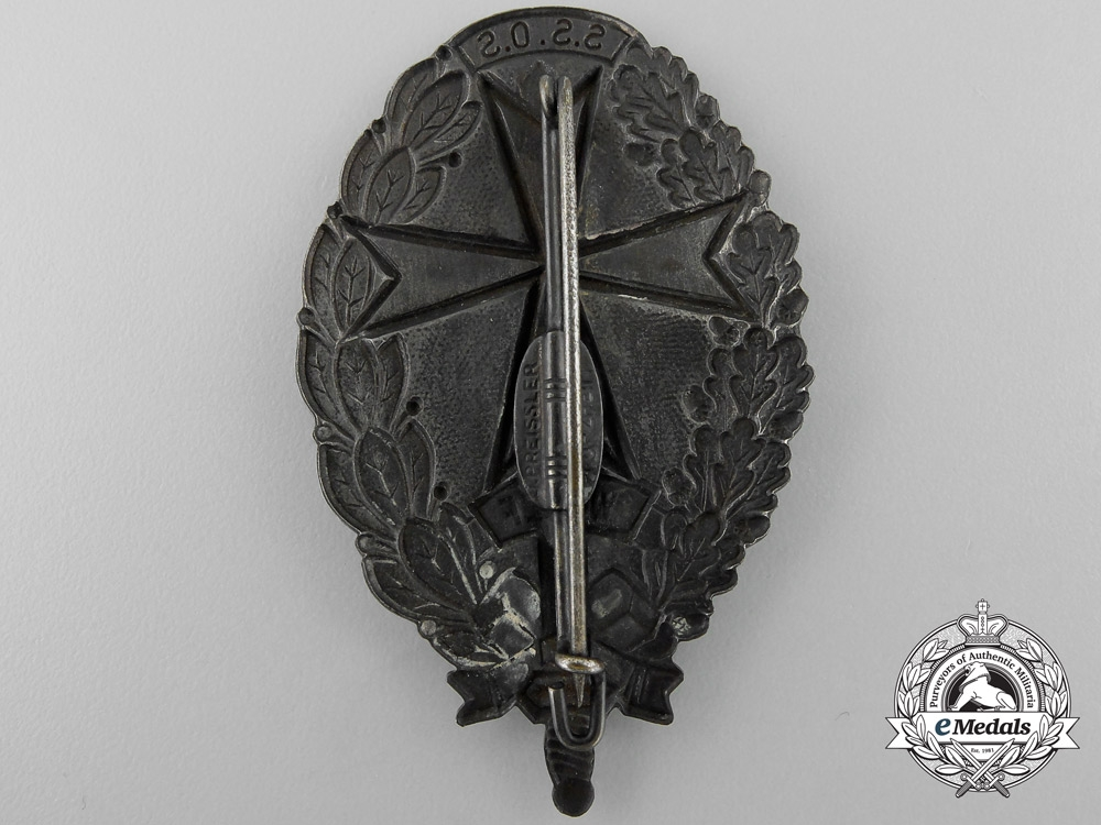 A Rare Freikorps Badge of the Selbstschutz Batallion Wolf