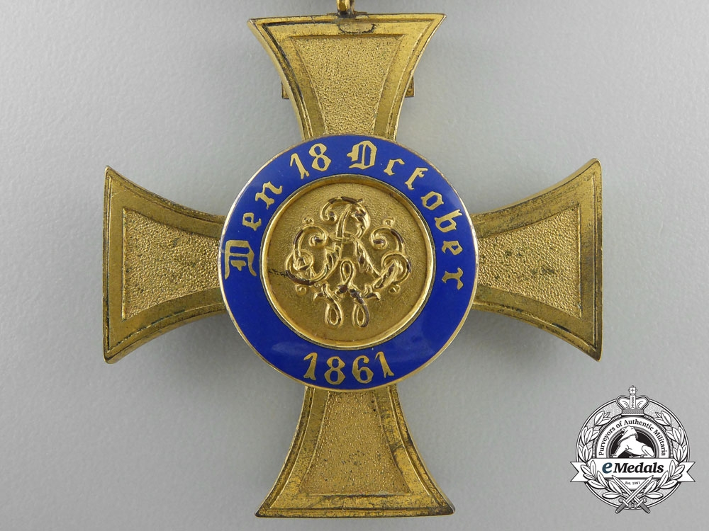 Prussia. An Order of the Crown 1872-1874; 4th Class with Geneva Cross & Case