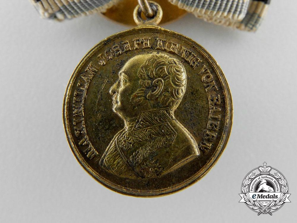 A First War Miniature Bavarian Golden Bravery Medal