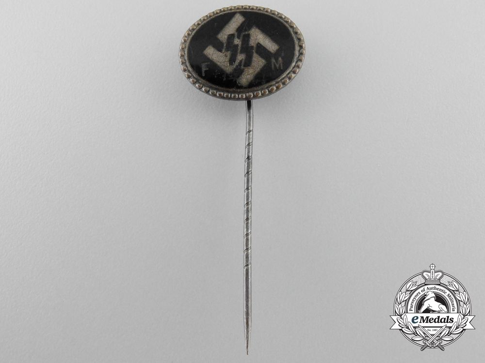 An SS (FM) Supporting Members Badge by Deschler