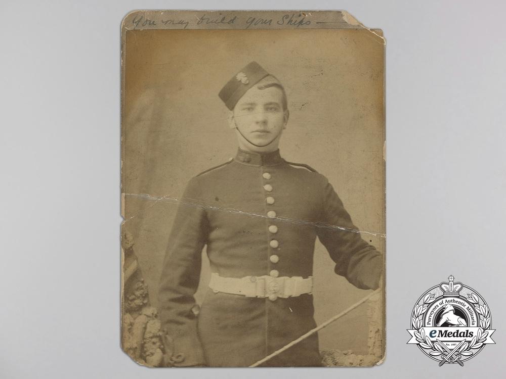Four Victorian Era British Military Studio Photographs