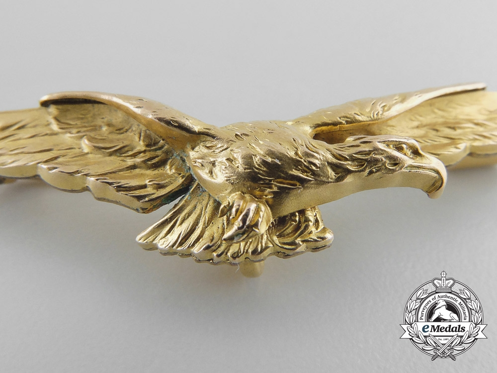 A First War French Pilot's Wings by FIX; Auguste Savard in Gold