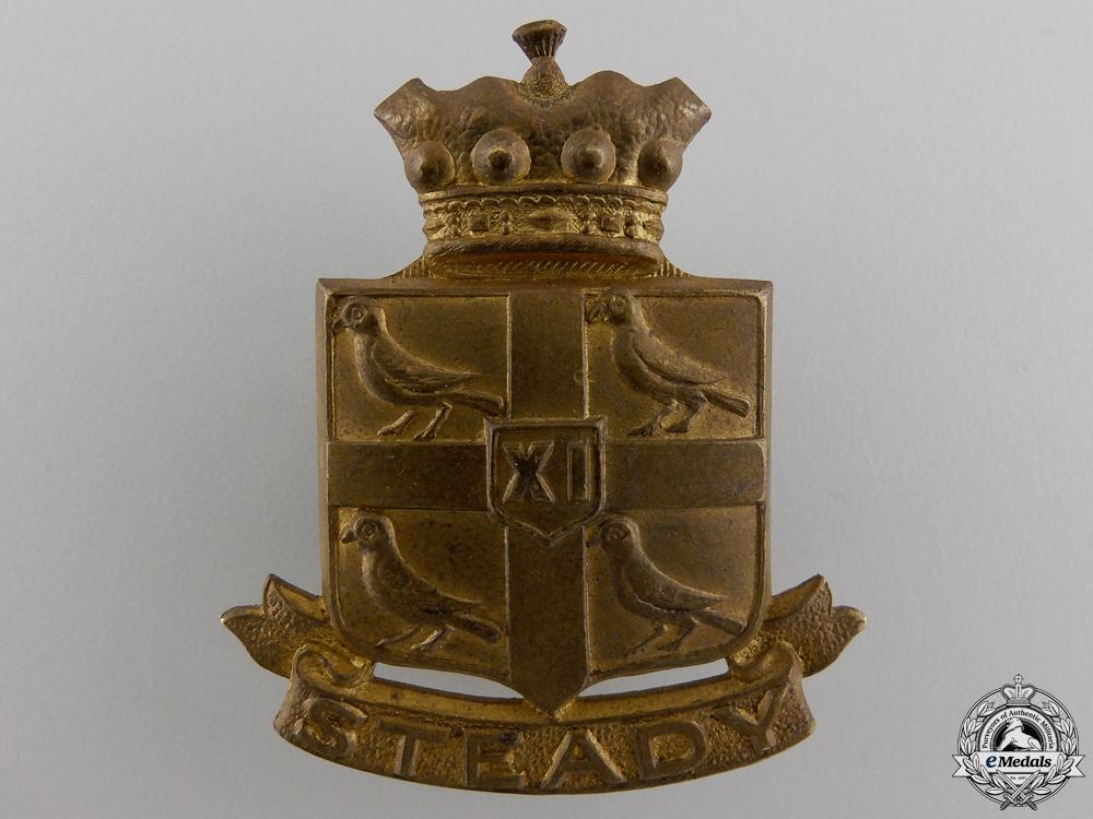 A 11th Canadian Hussars Cap Badge