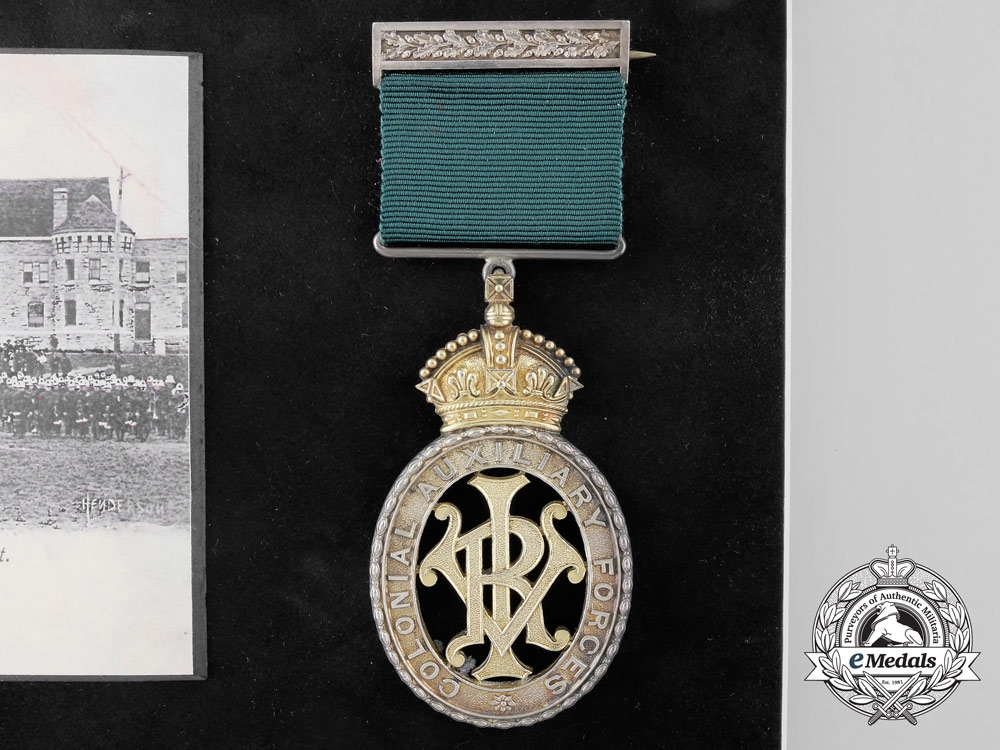 A Fine Canada General Service & Colonial Auxilliary Forces Officers' Decoration Pairing