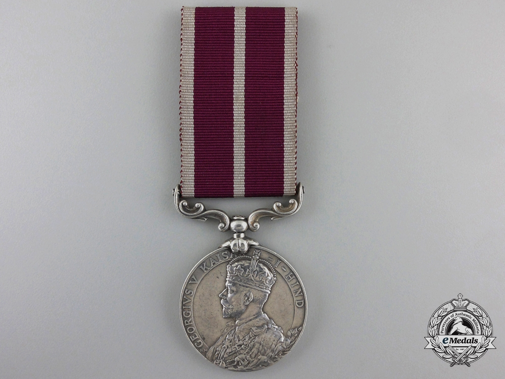 An Indian Army Meritorious Service Medal to the 1st Battalion, 17th Dogra Regiment