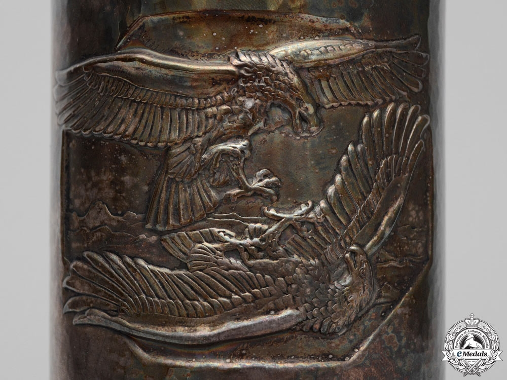 Germany. A Luftwaffe Honor Goblet to Fighter Ace Otto Decker with 40 Air Victories KIA