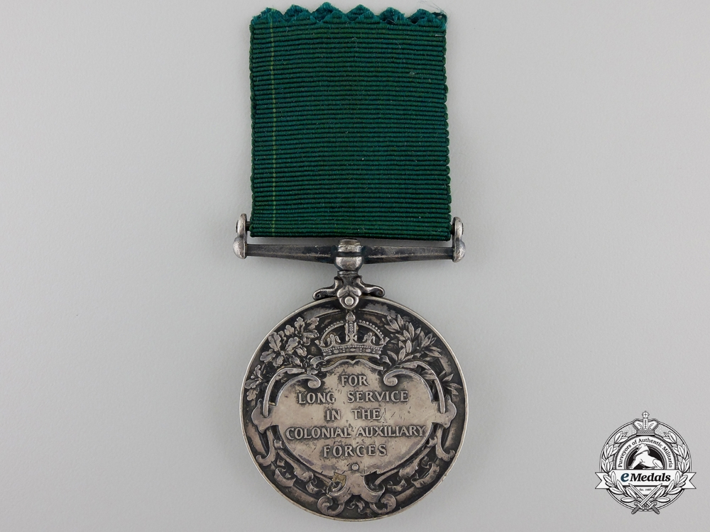 A Colonial Auxiliary Forces Long Service Medal to the 33rd Regiment
