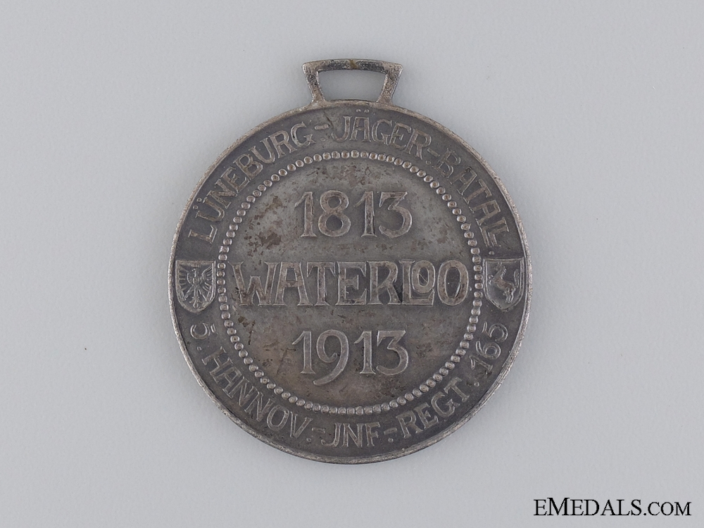 A 1813-1913 Hannover Regimental Waterloo Medal