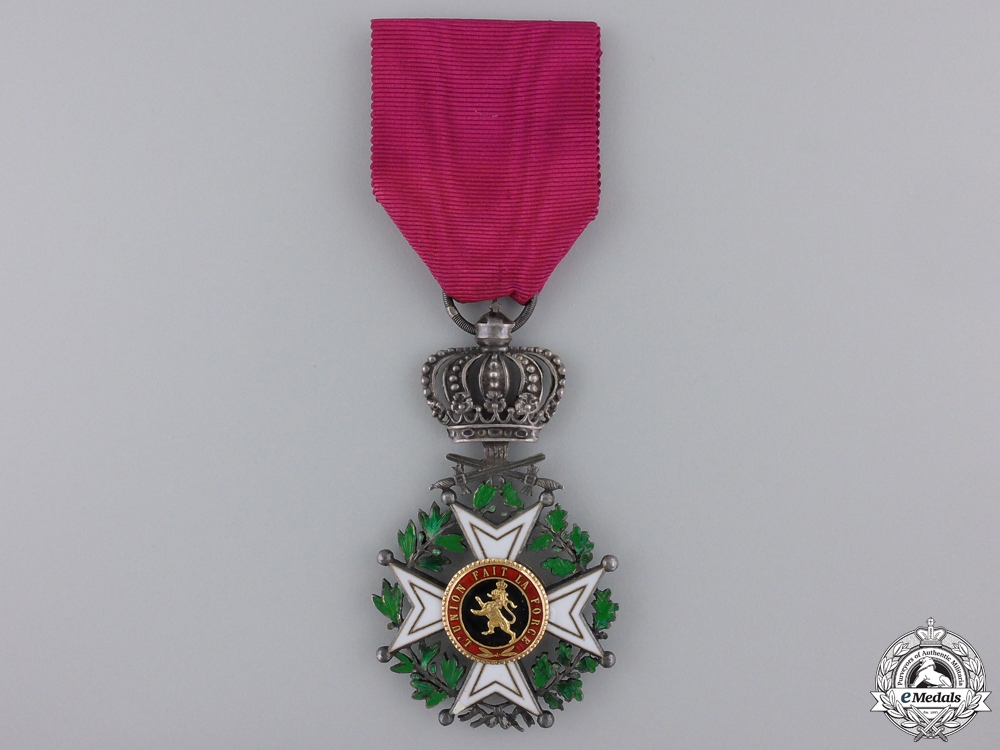 A 1832-1839 Belgian Order of Leopold; Knight's Cross with Swords