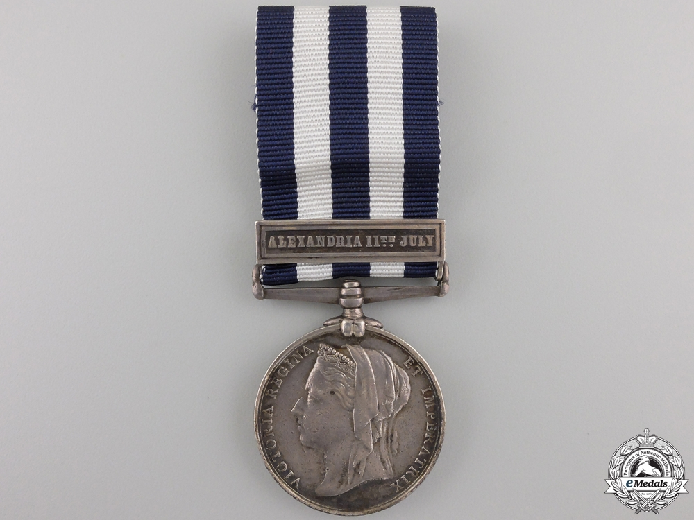 A 1882-89 Egypt Medal to the Royal Marines