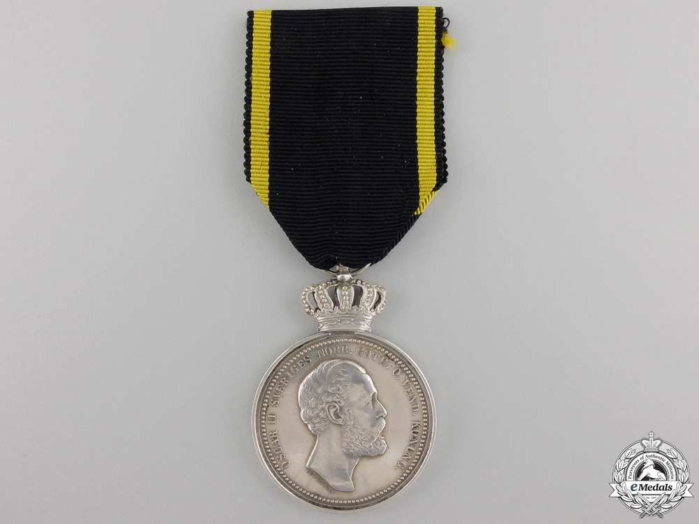 A 1893 Swedish Royal Patriotic Society Medal