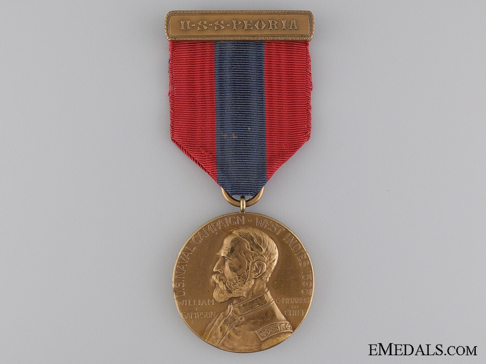 A 1898 U.S. Naval Campaign for the West Indies; Sampson Medal