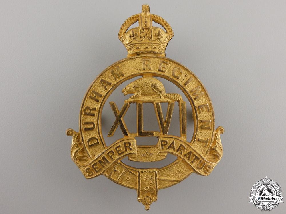A 1904-1917 46th Durham Regiment Officer's Cap Badge