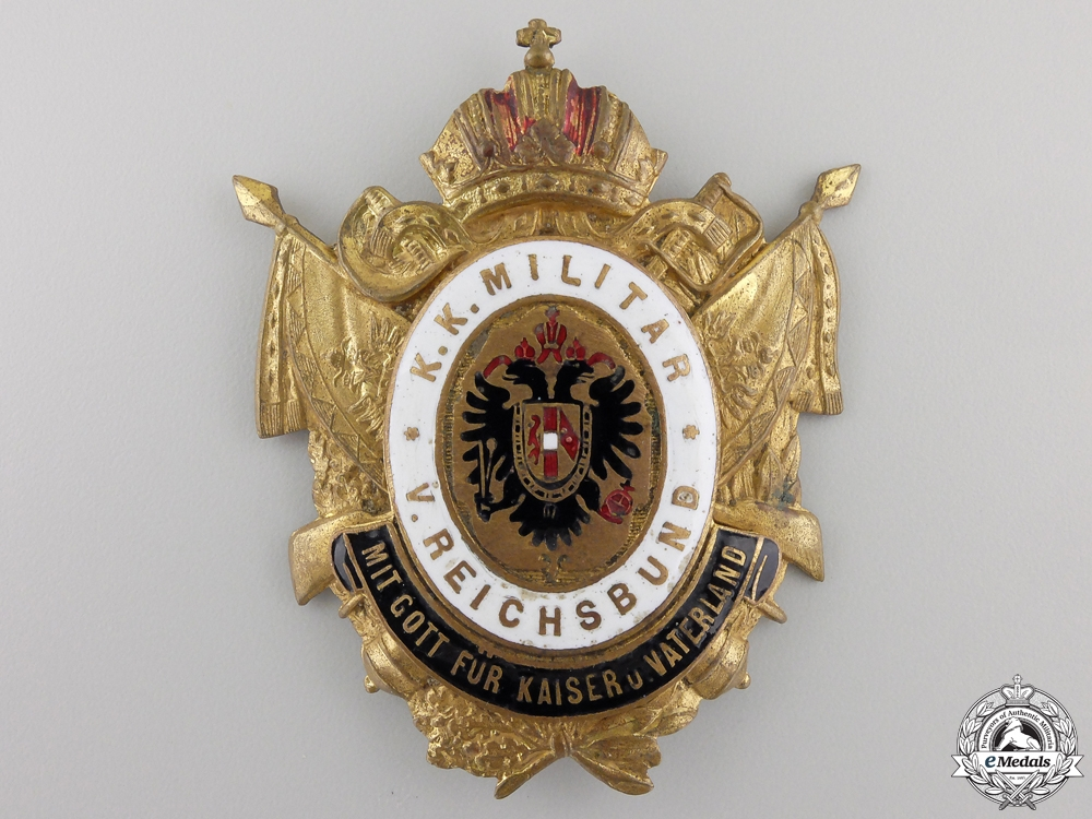 A 1910 Austrian Shako Badge