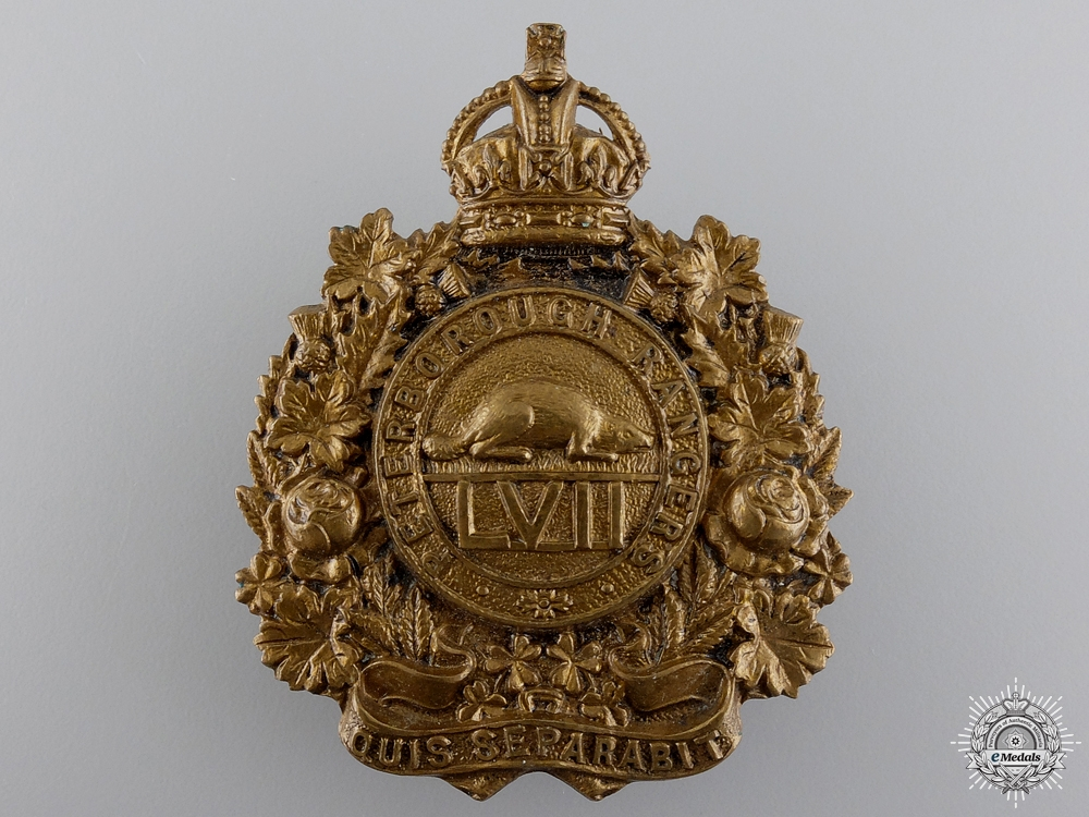 A 1910 Peterborough Rangers Cap Badge