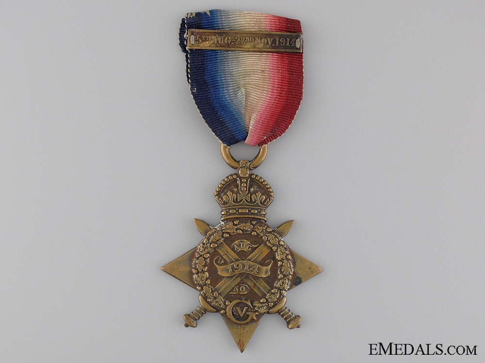 A 1914 Mons Star with Bar to the West Yorkshire Regiment