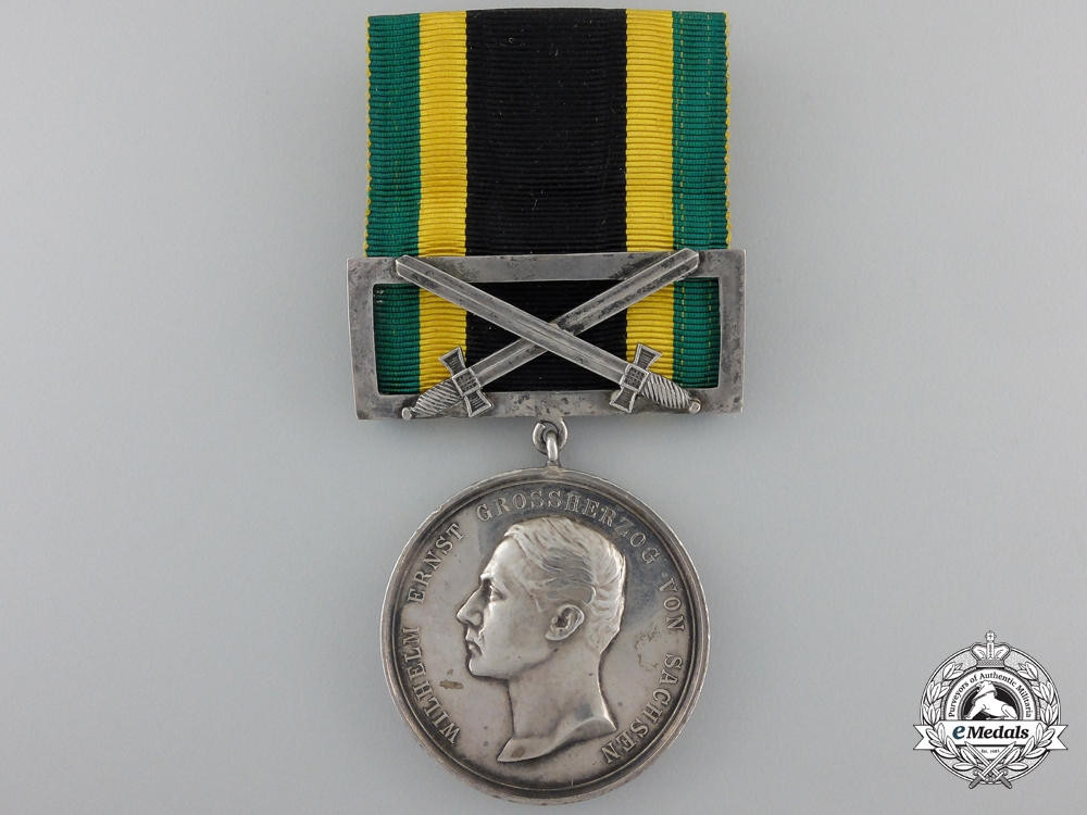 A 1914 Saxe-Weimar General Decoration; Silver Grade