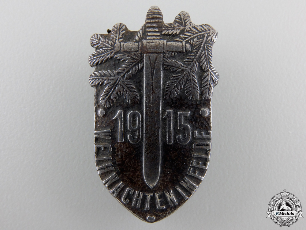 A 1915 German Christmas in the Field Badge