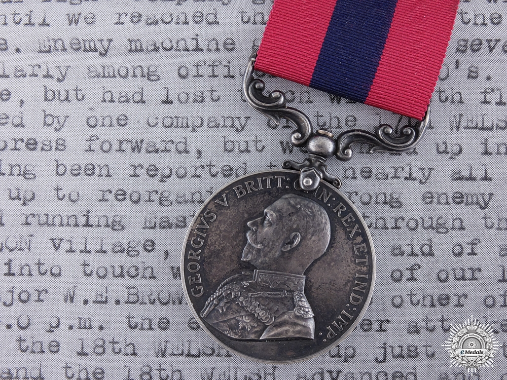 A 1917 Distinguished Conduct Medal for Counter Actions at Bourlon Wood
