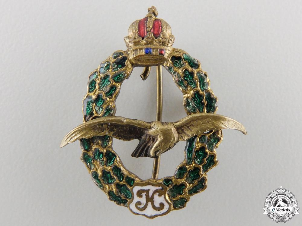 A 1918 Miniature Austrian Pilot's Badge