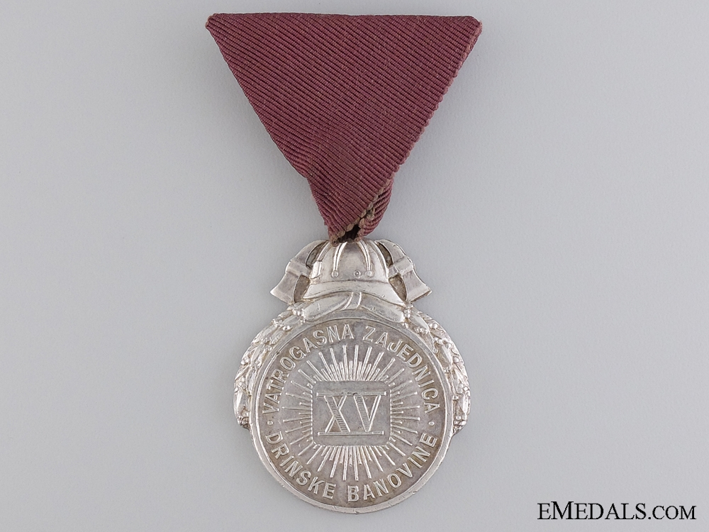 A 1930's Croatian Fireman's Long Service Award