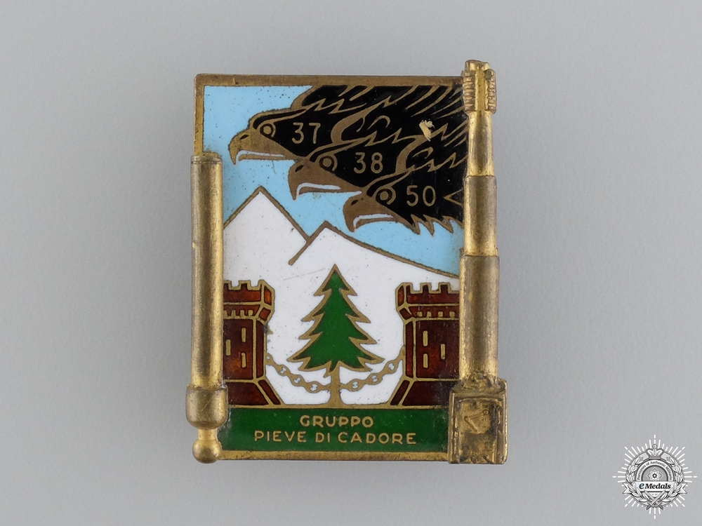 A 1930 Italian Enameled Badge