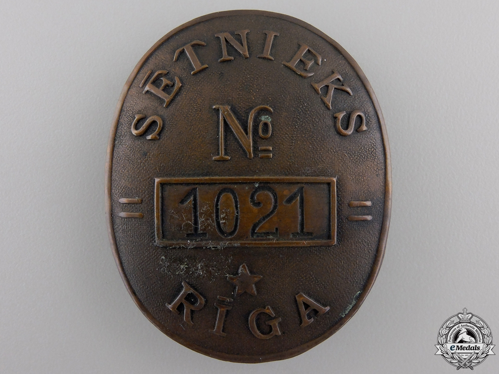 A 1930's Latvian Street Sweeper Badge