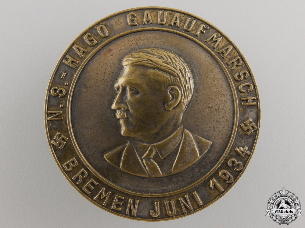 A 1934 A. H Bronze Badge